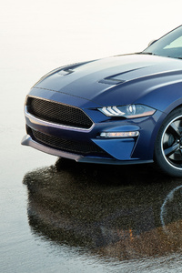 720x1280 2019 Ford Mustang Bullitt Kona Blue Side View