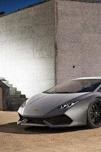 2019 Grey Lamborghini Huracan 4k