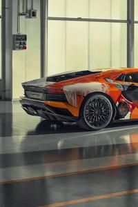 2019 Lamborghini Aventador S Rear View