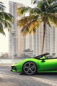 750x1334 2019 Lamborghini Huracan Evo Spyder 5k