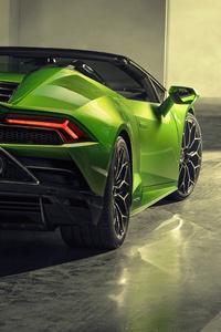 750x1334 2019 Lamborghini Huracan Evo Spyder Rear View 5k