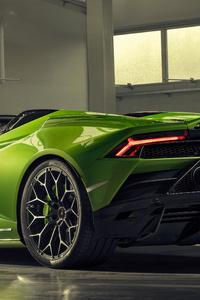 750x1334 2019 Lamborghini Huracan Evo Spyder Rear View