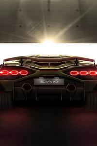 720x1280 2019 Lamborghini Sian 8k Rear