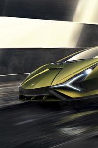 320x568 2019 Lamborghini Sian 8k