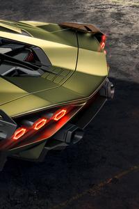 2019 Lamborghini Sian Rear