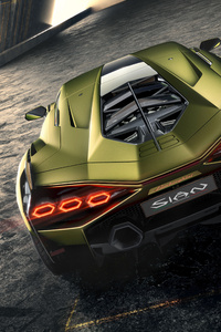2019 Lamborghini Sian Rear View