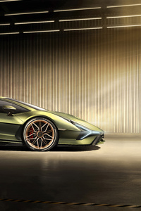 2019 Lamborghini Sian Side View