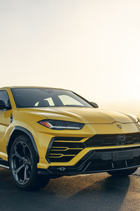 1080x1920 2019 Lamborghini Urus Shiny Black Package 5k