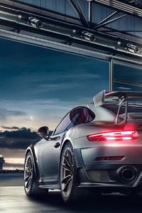320x568 2019 Porsche 911 GT2 RS 4k Rear