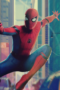640x1136 2019 Spiderman 4k Art