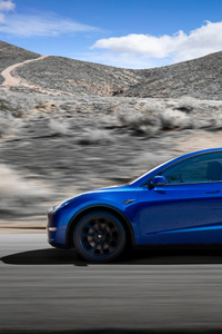 720x1280 2019 Tesla Model Y Side View