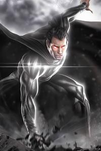 1440x2560 2020 Black Superman 4k
