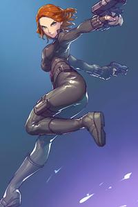 2020 Black Widow Artwork 4k