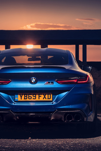 2020 BMW M8 Competition Rear View 5k