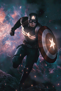 1125x2436 2020 Captain America 4k Artwork