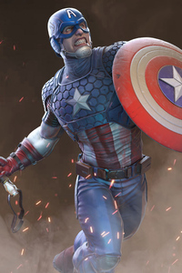 320x568 2020 Captain America Artwork