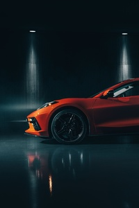 1080x2160 2020 Chevrolet Corvette Stingray C8 8k