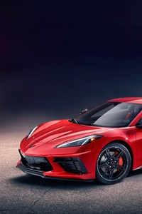 1080x2160 2020 Chevrolet Corvette Stingray C8 Front