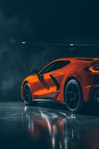 1080x2160 2020 Chevrolet Corvette Stingray C8 Rear