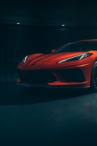 1080x2160 2020 Chevy Corvette Stingray C8