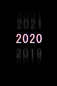240x320 2020 Dark Minimal New Year 4k