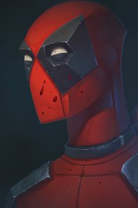 1280x2120 2020 Deadpool Art