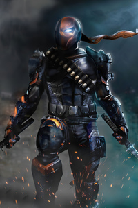1242x2688 2020 Deathstroke 4k Artwork