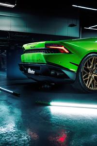 2020 Green Lamborghini Huracan 4k