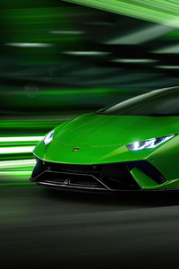 1080x2280 2020 Green Lamborghini Huracan Performante 4k
