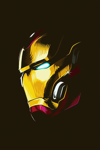 320x480 2020 Iron Man Mask Minimalism 4k