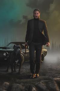 1080x1920 2020 John Wick Dog 4k
