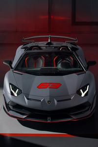 2020 Lamborghini Aventador SVJ 63 Roadster Front View