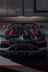 2020 Lamborghini Aventador SVJ 63 Roadster Rear View