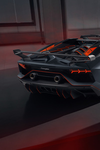 2020 Lamborghini Aventador SVJ 63 Roadster Rear View 8k