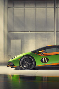 2020 Lamborghini Huracan Evo GT Side View