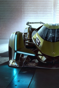 1440x2960 2020 Lamborghini Lambo V12 Vision Gran Turismo Front View
