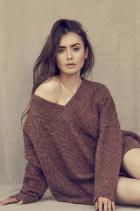 240x320 2020 Lily Collins 4k