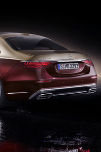 1080x2160 2020 Mercedes S Class Maybach 5k