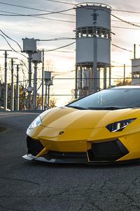 2020 Orange Lamborghini Aventador Sv 4k