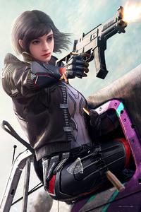 240x320 2020 Pubg Girl 4k Game