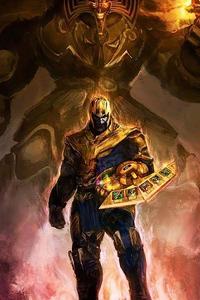 1080x2160 2020 Thanos 4k New