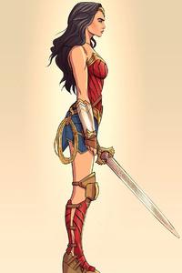 240x320 2020 Wonder Woman Minimalism 4k
