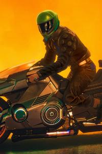 2021 Cyberpunk 2077 Biker 4k