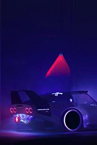720x1280 2021 Cyberpunk Corvette C3 Cgi 4k