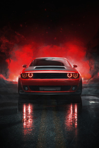 320x480 2021 Dodge Challenger Muscle Car