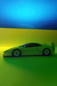 2160x3840 2021 Ferrari F40 Rendered 5k