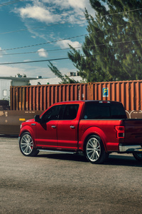 2021 Ford F 150 Velgen Contained Ruby Red 8k