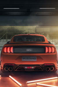 480x800 2021 Ford Mustang Mach 1 Rear