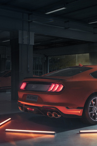 480x800 2021 Ford Mustang Mach 1 Rear Lights 5k