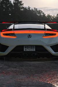 1080x2280 2021 Honda Nsx Widebody Rear 4k
